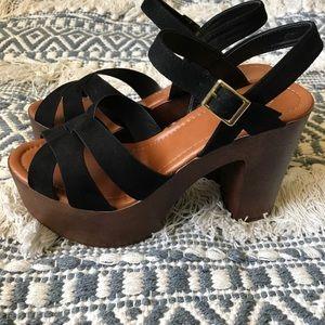 Retro Black Heels